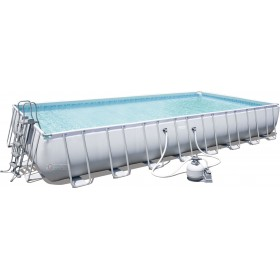 BESTWAY 56623 POOL WITH SELF-SUPPORTING FRAME COMPLETE FILTERING PUMP CM. 956X488X132