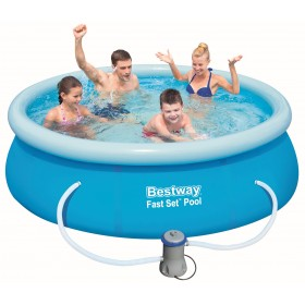Bestway 57268 Fast Set inflatable swimming pool cm. 244x66 capacity lt. 2300 complete with filter pump