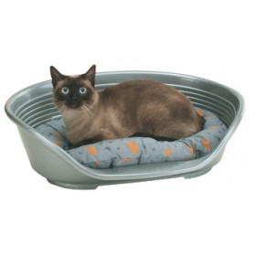 DELUXE BED FOR DOG OR CAT IN POLYLENE CM.49X36X17,5H