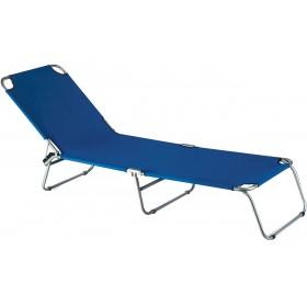 KATIA SUN BED IN BLUE STEEL FOR SEA SWIMMING POOL CAMPING