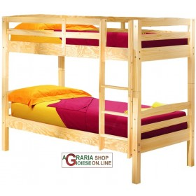 BUNK BED WITH TRANSFORMATION INTO 2 SINGLE BEDS Cm. 200x102x148H