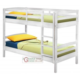 BUNK BED WITH TRANSFORMATION INTO 2 SINGLE BEDS Cm. 200x102x148H WHITE