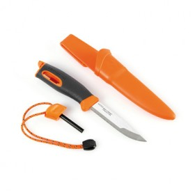 LIGHT MY FIRE SPORTS KNIFE ORANGE HANDLE WITH FIXED BLADE LMF FK OR
