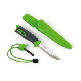 LIGHT MY FIRE SPORTING KNIFE GREEN HANDLE WITH FIXED BLADE LMF FK GR