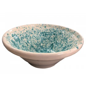 LIMBA GREEN AND WHITE GLAZED CERAMIC MEDIUM CM. 34x15h.