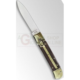 LINDER SNAP KNIFE BRASS AND WOOD HANDLE 305120