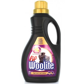 LIP WOOLITE HAND AND WASHING MACHINE DETERGENT LIQUID NOIR DARK BLACK GARMENTS AND JEANS 25 WASHES 1.5 LITERS