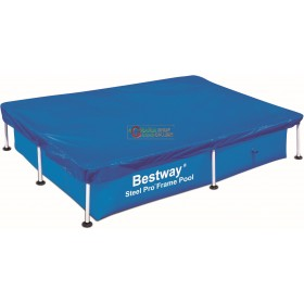 BESTWAY 58103 TOP COVER POOL COVER WITH RECTANGULAR FRAME CM. 221x150