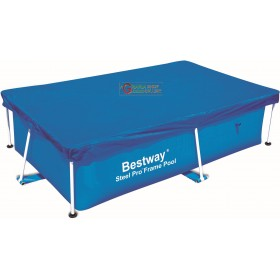 BESTWAY 58104 TOP COVER POOL COVER WITH RECTANGULAR FRAME CM.239x150