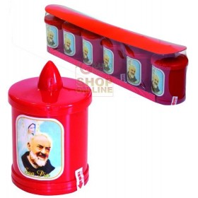 BATTERY-POWERED ELECTRIC VOTIVE LUMINOUS MOD. FATHER-PIO LED