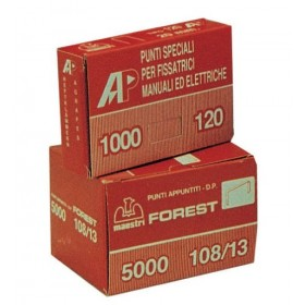 MAESTRI POINTED POINTS FOR STAPLER ART. 80/12 CONF. PZ. 10000