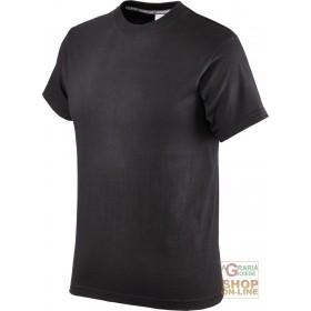COTTON HALF-SLEEVE T-SHIRT GR 145 COLOR BLACK TG S XXL