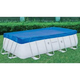 BESTWAY 58232 TOP COVER POOL COVER WITH FRAME DIAM. CM. 412X201