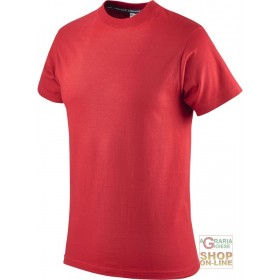 COTTON SHORT SLEEVE T-SHIRT GR 145 RED SIZE S XXL