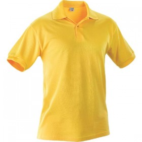 100% COTTON YELLOW POLO SHIRT TG. L