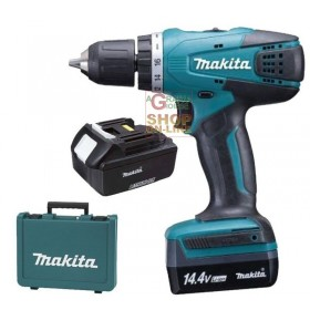MAKITA DRILL WITH 2 14 VOLT LITHIUM BATTERIES DF347DWE WITH CASE