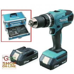MAKITA DRILL WITH 2 18 VOLT LITHIUM BATTERIES HP457DWEX WITH ALUMINUM CASE