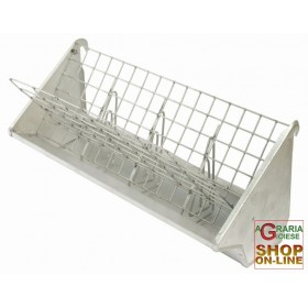 GALVANIZED FEEDER FOR HAY AND PELLET FOR RABBITS