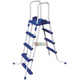 BESTWAY 58331 SAFETY LADDER FOR STURDY POOLS HEIGHT CM.122