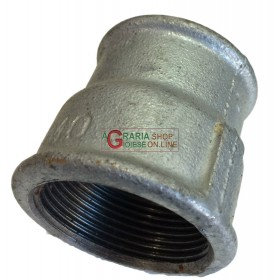 GALVANIZED REDUCED THREADED SLEEVE 1.1 / 2 - 1.1 / 4