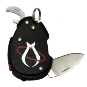 MANTIS KNIVES KEY RING WITH STEEL BLADE AND BOTTLE OPENER MKN B3