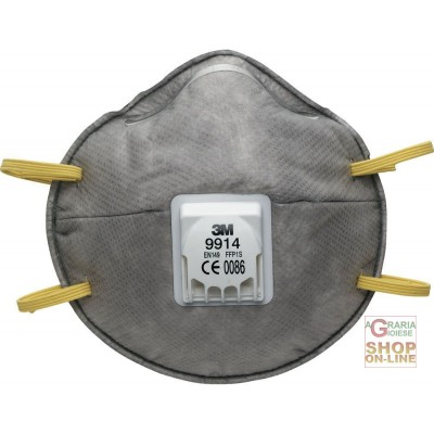 3M MASK FOR ANNOYING ODORS AND PAINTING WITH EXHALATION VALVE FFP1 NR D