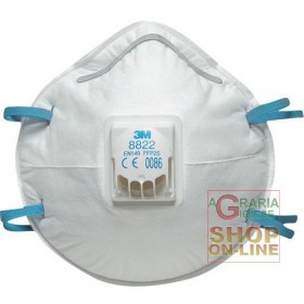 3M MASK FOR TOXIC DUST AND FUMES WITH FFP2 VALVE NR D