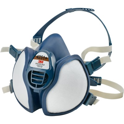 3M 4251 CE FFA1P2D ANTIGAS MASK COMPLETE WITH FILTERS