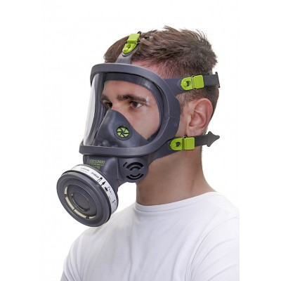 BLS FACE ANTIGAS MASK WITH EYE PROTECTION POLYCARBONATE TR82