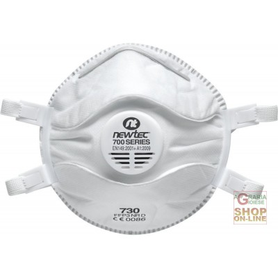 HYGIENIC DUST MASK WITH VALVE CLASS FFP3 NR D
