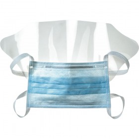 HYGIENIC HOSPITAL MASK IN LIGHT BLUE NON-WOVEN FABRIC