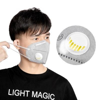 KN95 FFP2 ANTIVIRUS MASK WITH VALVE AND FILTER