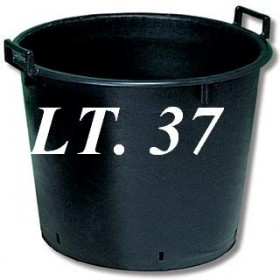 BLACK TUB FOR PLANTS WITH HOLES 45X37 LT. 37