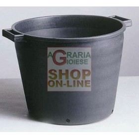 BLACK TUB FOR PLANTS WITH HOLES 55X41 LT. 65 LOW