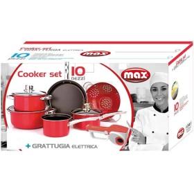 MAX BATTERIA 10PZ-COOKER SET+GRATTUGIA ELET