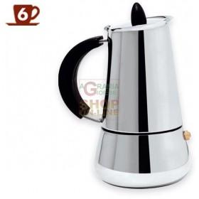 MAX CAFFETTIERA 6 TAZZE ACCIAIO BON TON