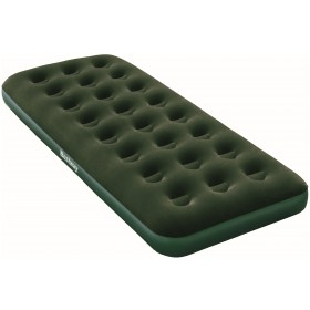 Bestway 67446 Single inflatable green flocculated outdoor camping mattress cm. 185x76x22h