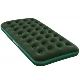 Bestway 67447 Green flocculated single inflatable mattress for outdoor camping cm. 188x99x22h