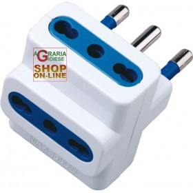 TRIPLE 10A ADAPTER 3 BY-PASS SOCKETS