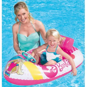 Bestway 93204 small boat for children Barbie with steering