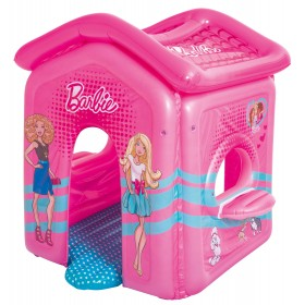 Bestway 93208 Inflatable Barbie house with padded bottom and