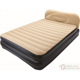 BESTWAY AIRBED SOFT BACK ELEVATED DOUBLE BED DOUBLE INFLATABLE 203X152X41 MOD. 67483