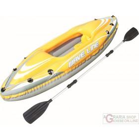 BESTWAY CANOA PROFESSIONALE KAYAK WAVE LINE CM 292X107 MAX 100
