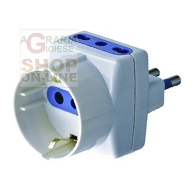 TRIPLE 16A ADAPTER WITH SCHUKO