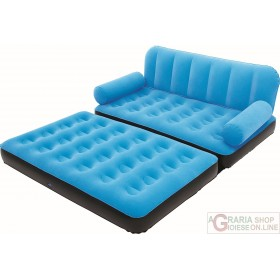 BESTWAY INFLATABLE FLOCKED SOFA CM.188X162X54 WITH PUMP MOD. 67356