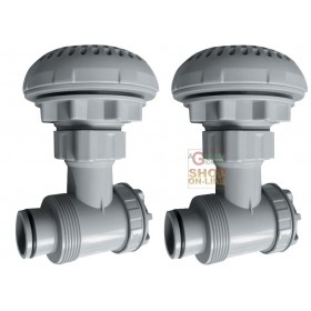 BESTWAY F4H057ASS CONNECTION VALVE FOR SWIMMING POOLS SET 2 PIECES