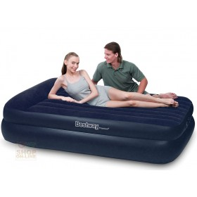 BESTWAY DOUBLE FLOCKED AUTO INFLATABLE MATTRESS BED 203X163X48 CM MOD. 67403