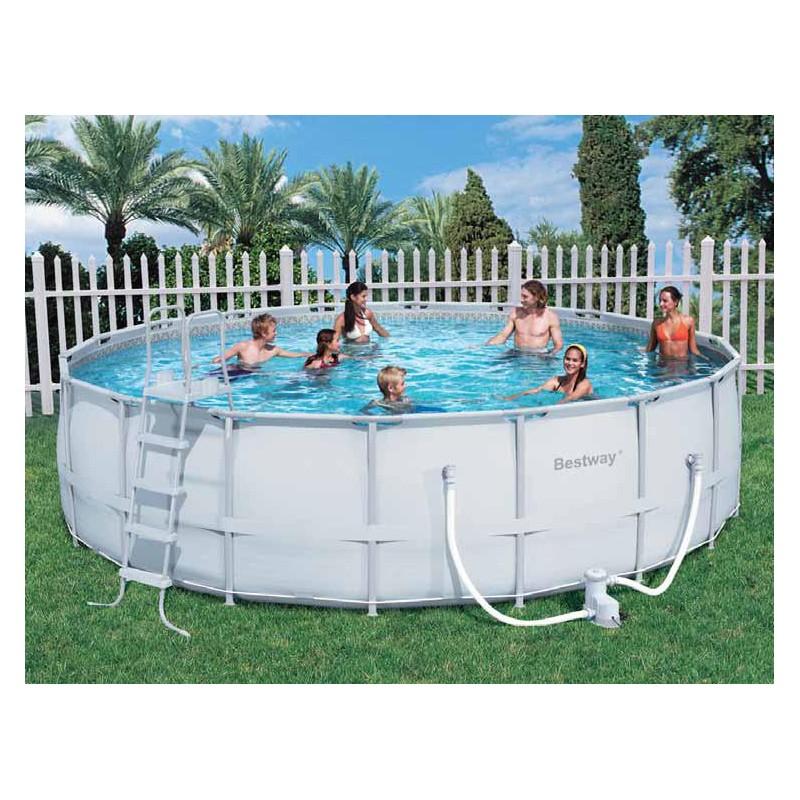 Bestway piscina con telaio completa cm 549x132h mod 56232 - Montaggio piscina bestway ...