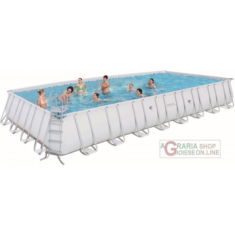 Bestway piscina con telaio power steel frame cm 956x488x132h 56338 - Riparazione telo piscina ...