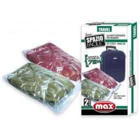MAX SET 2 SAC.SOTTOVUOTO TRAVEL 40X60CM